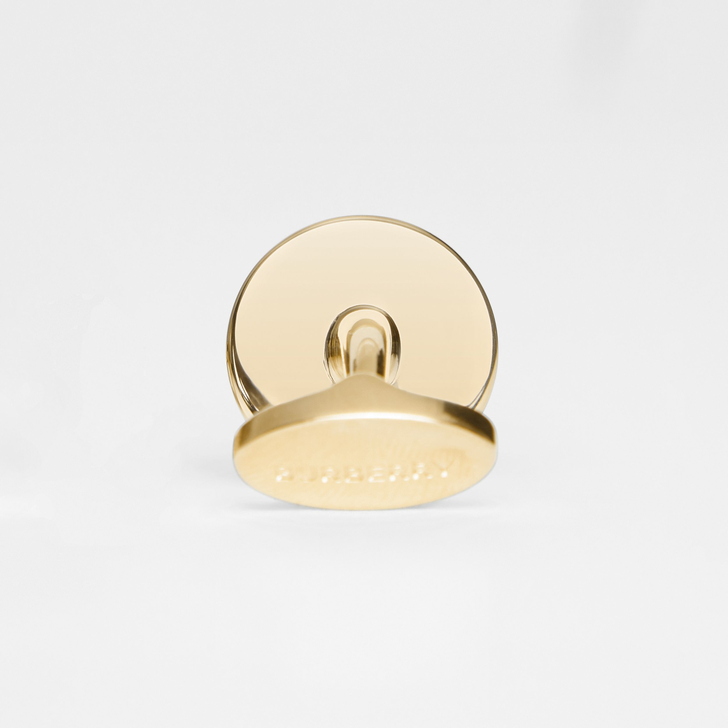 Engraved Gold-plated Cufflinks in Light - Men | Burberry - 2