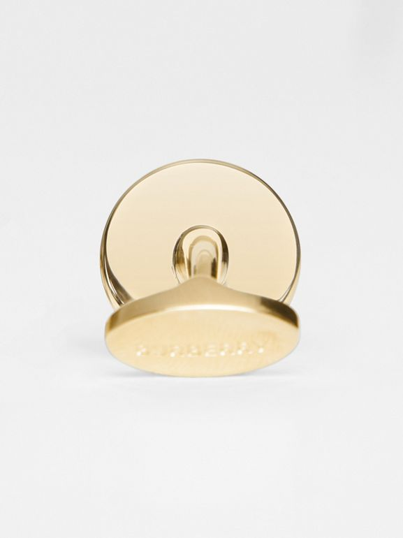 Engraved Gold-plated Cufflinks in Light - Men | Burberry - cell image 1
