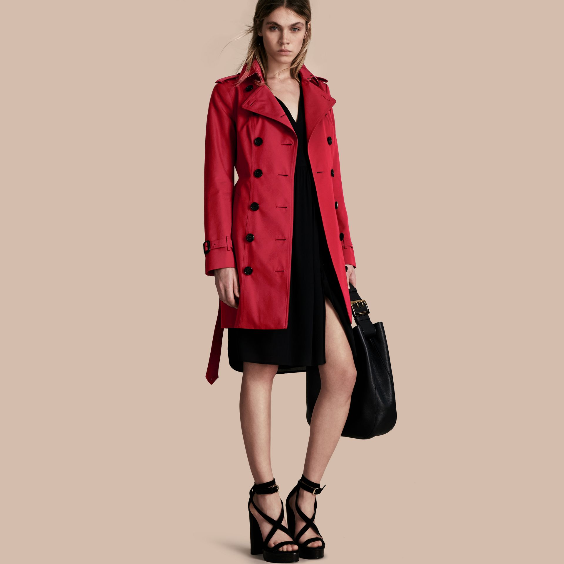 Parade red The Sandringham – Mid-length Heritage Trench Coat Parade Red - gallery image 1