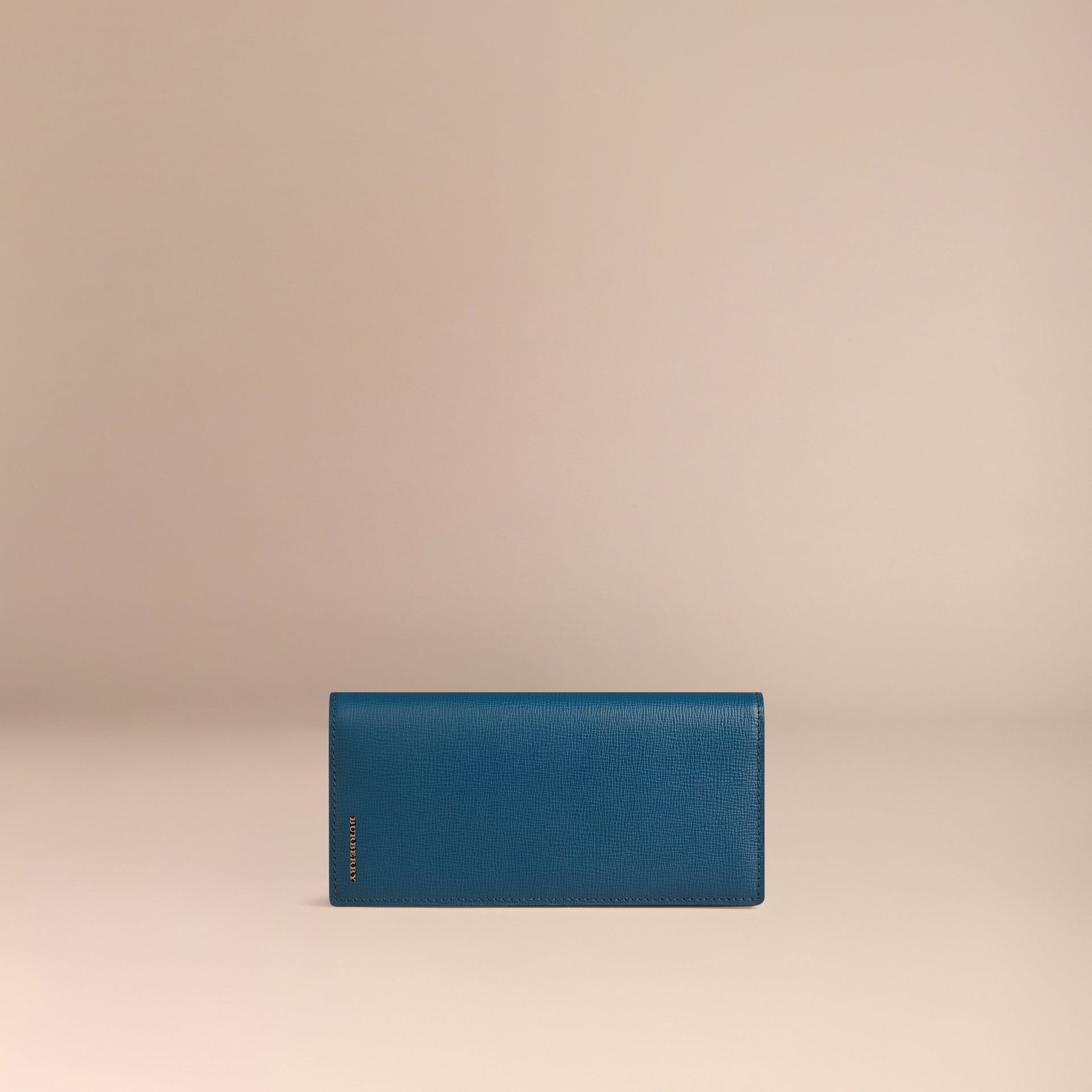 Mineral blue London Leather Continental Wallet Mineral Blue - gallery image 3