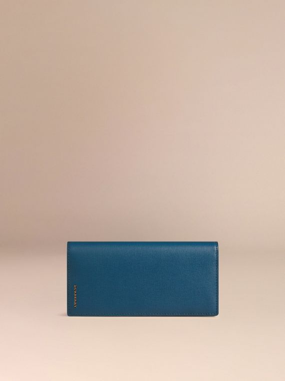 Mineral blue London Leather Continental Wallet Mineral Blue - cell image 2