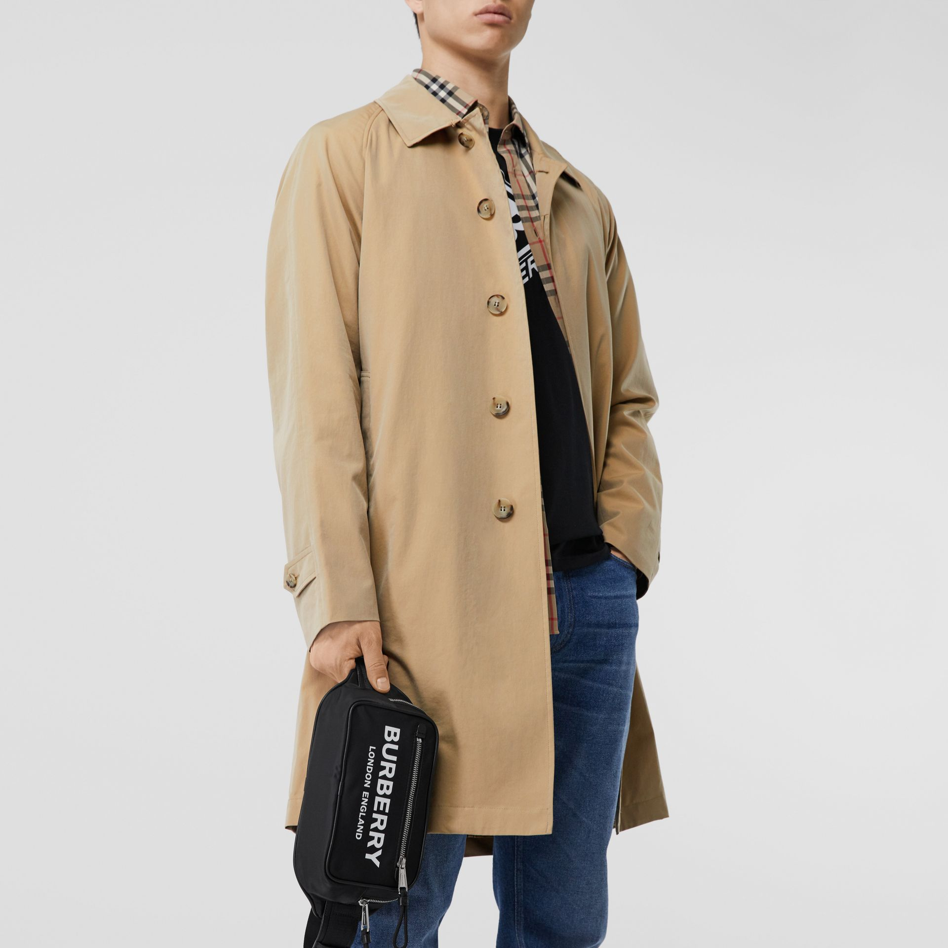 The Camden Car Coat in Honey - Men | Burberry Hong Kong S.A.R - gallery image 7