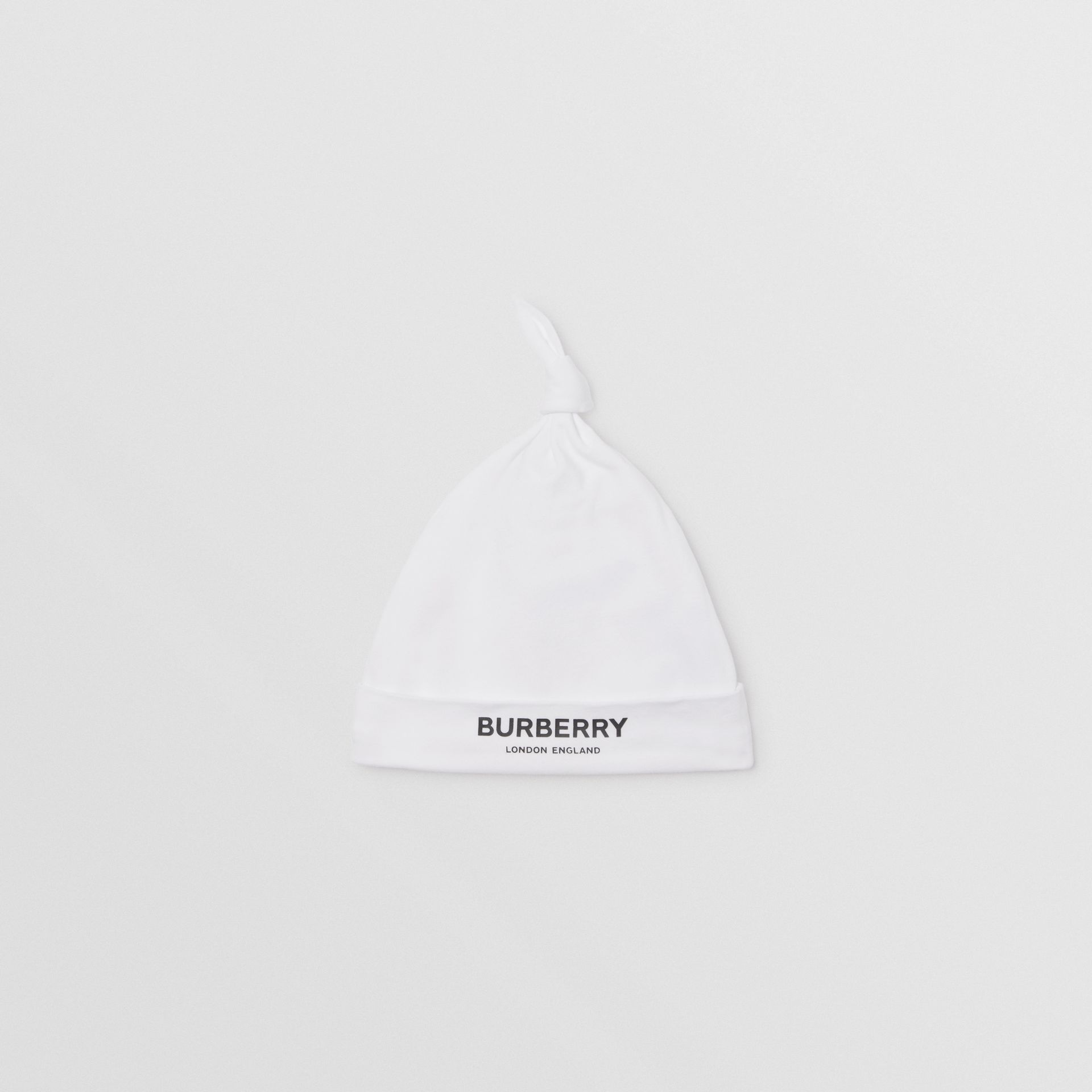 Logo Print Stretch Cotton Two-piece Baby Gift Set in White - Children | Burberry - gallery image 3