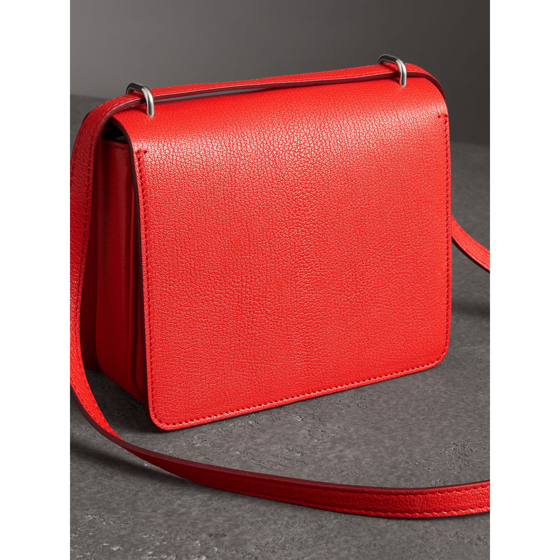 The Small Leather D-ring Bag in Bright Red - Women | Burberry - gallery image 2