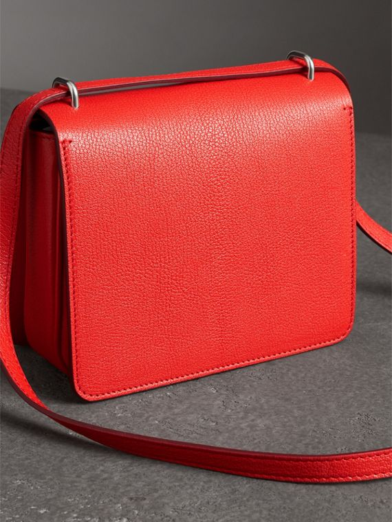 The Small Leather D-ring Bag in Bright Red - Women | Burberry Australia - cell image 2