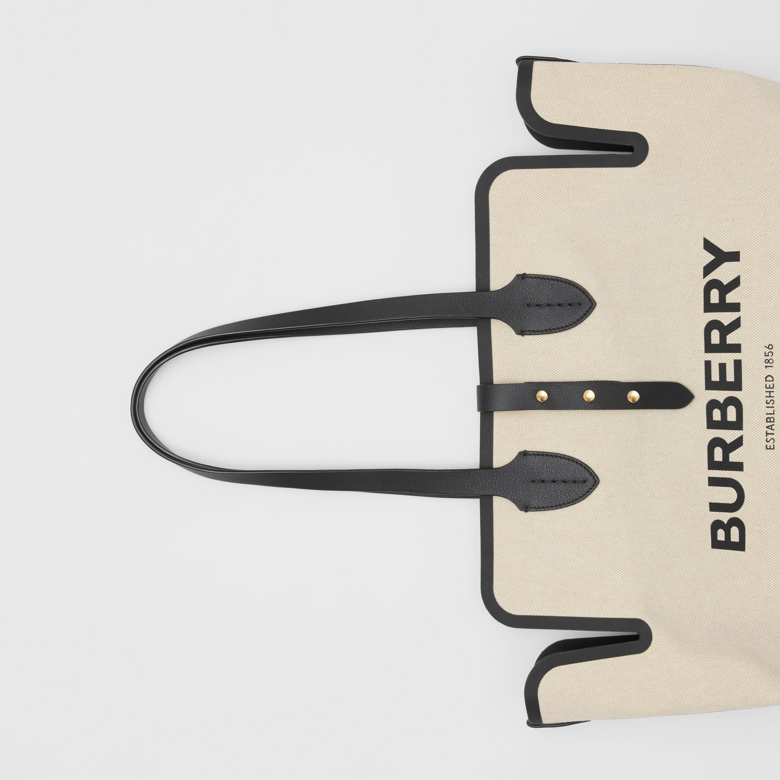The Medium Soft Cotton Canvas Belt Bag in Black - Women | Burberry Canada - 2