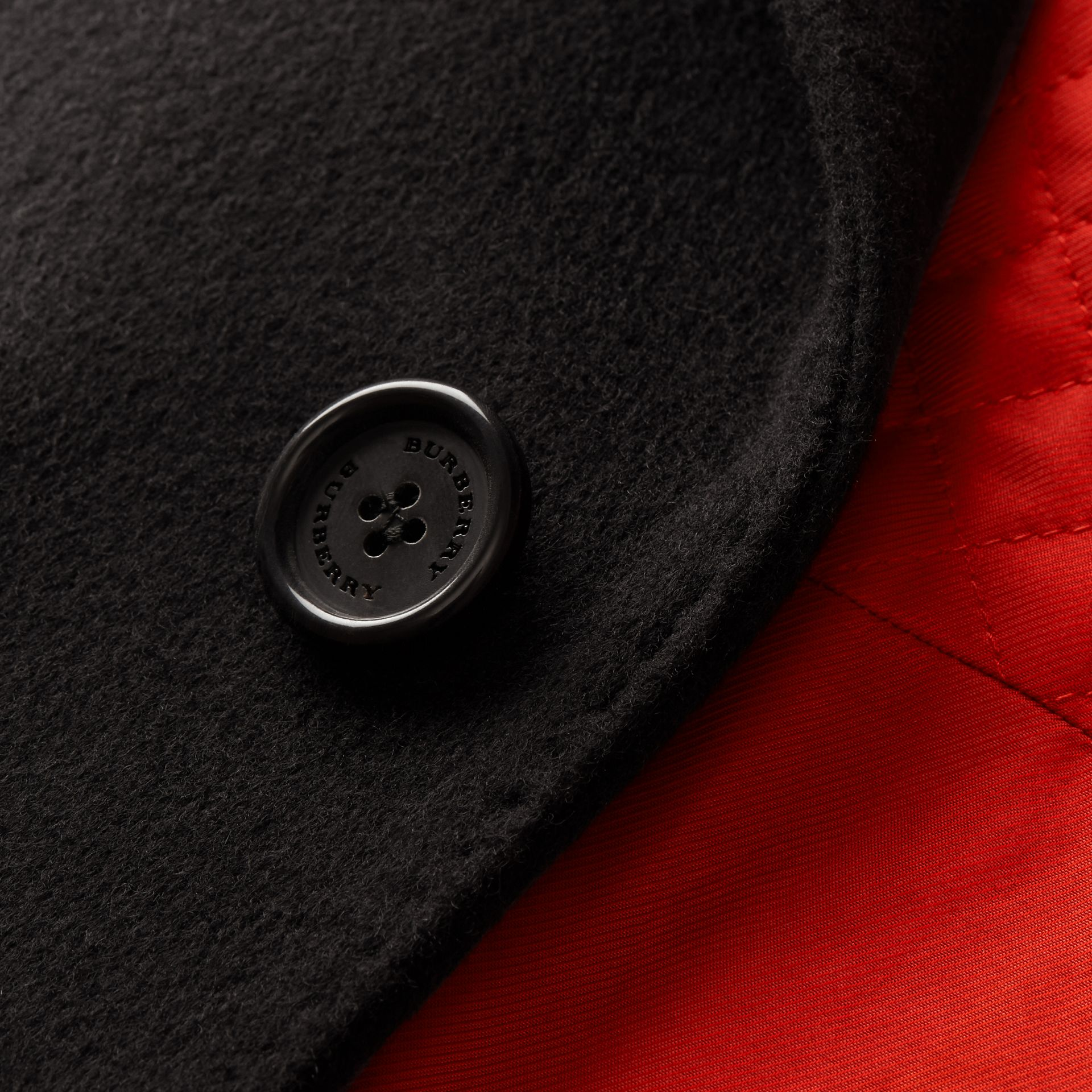Black Rabbit Topcollar Wool Cashmere Coat - gallery image 2
