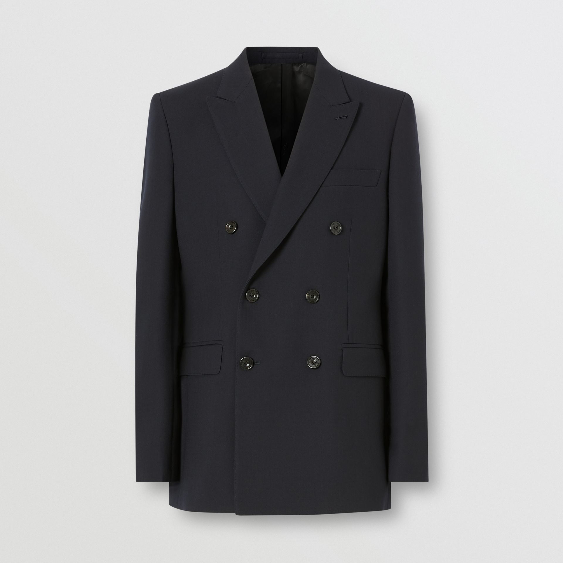 English Fit Double-faced Wool Crepe Tailored Jacket in Navy - Men | Burberry - gallery image 3