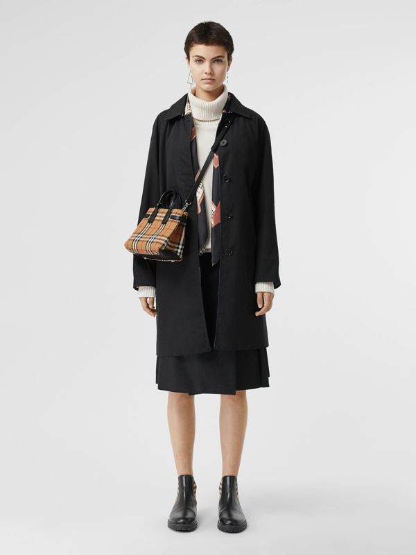 The Baby Banner in Vintage Check and Leather in Black - Women | Burberry Australia - cell image 2
