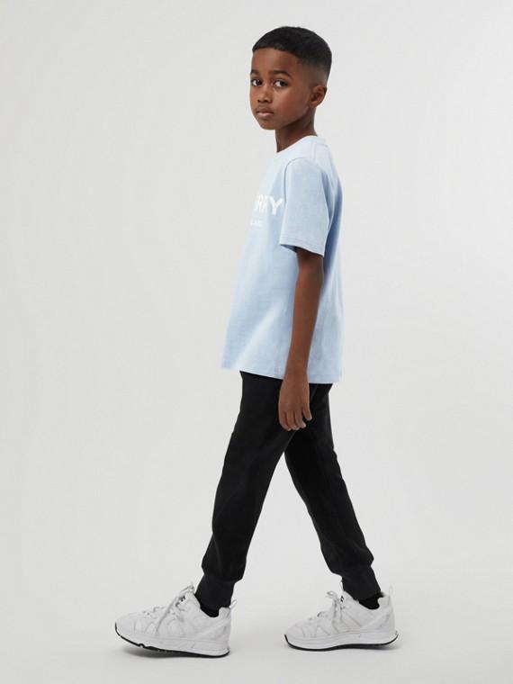 T-shirt en coton avec logo (Bleu Clair)