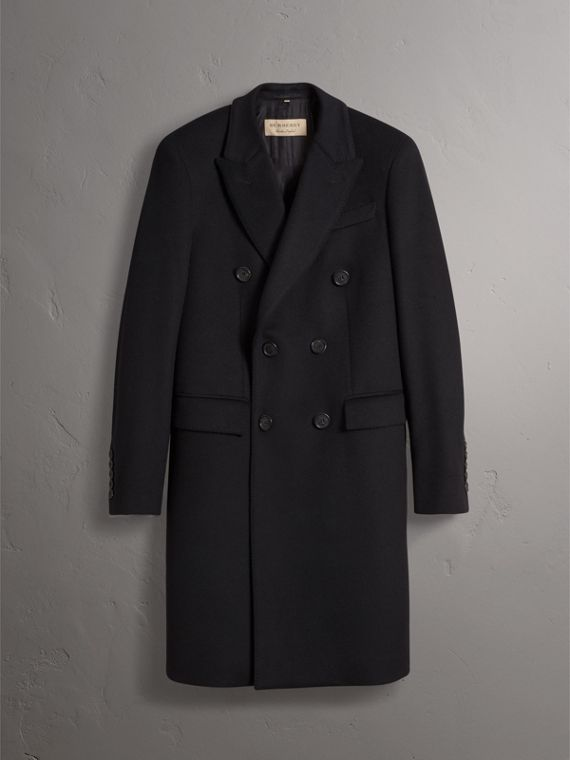 Double-breasted Wool Cashmere Tailored Coat in Black - Men | Burberry Hong Kong - cell image 3