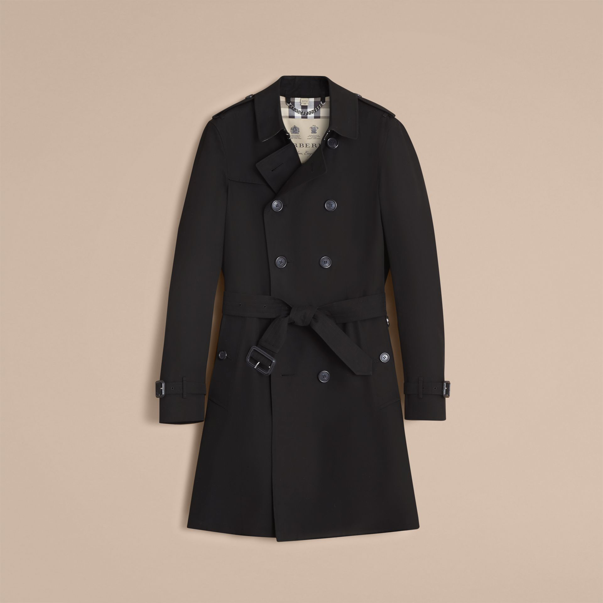 Black The Chelsea – Long Heritage Trench Coat Black - gallery image 5