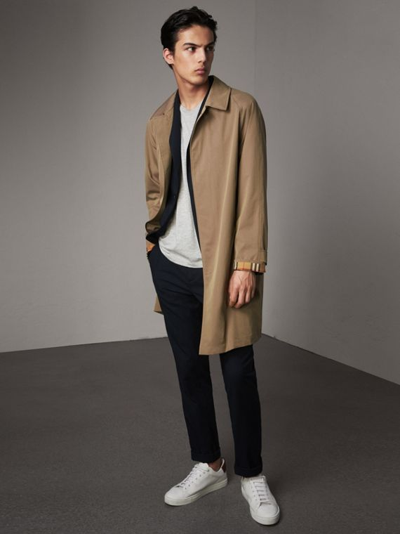 The Camden – Langer Car Coat (Taupe-braun)