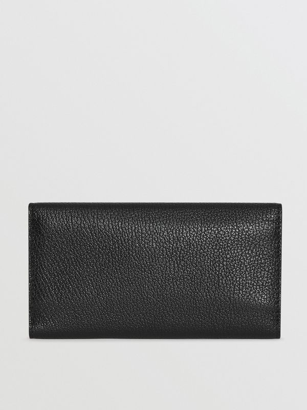 D-ring Grainy Leather Continental Wallet in Black - Women | Burberry - cell image 2