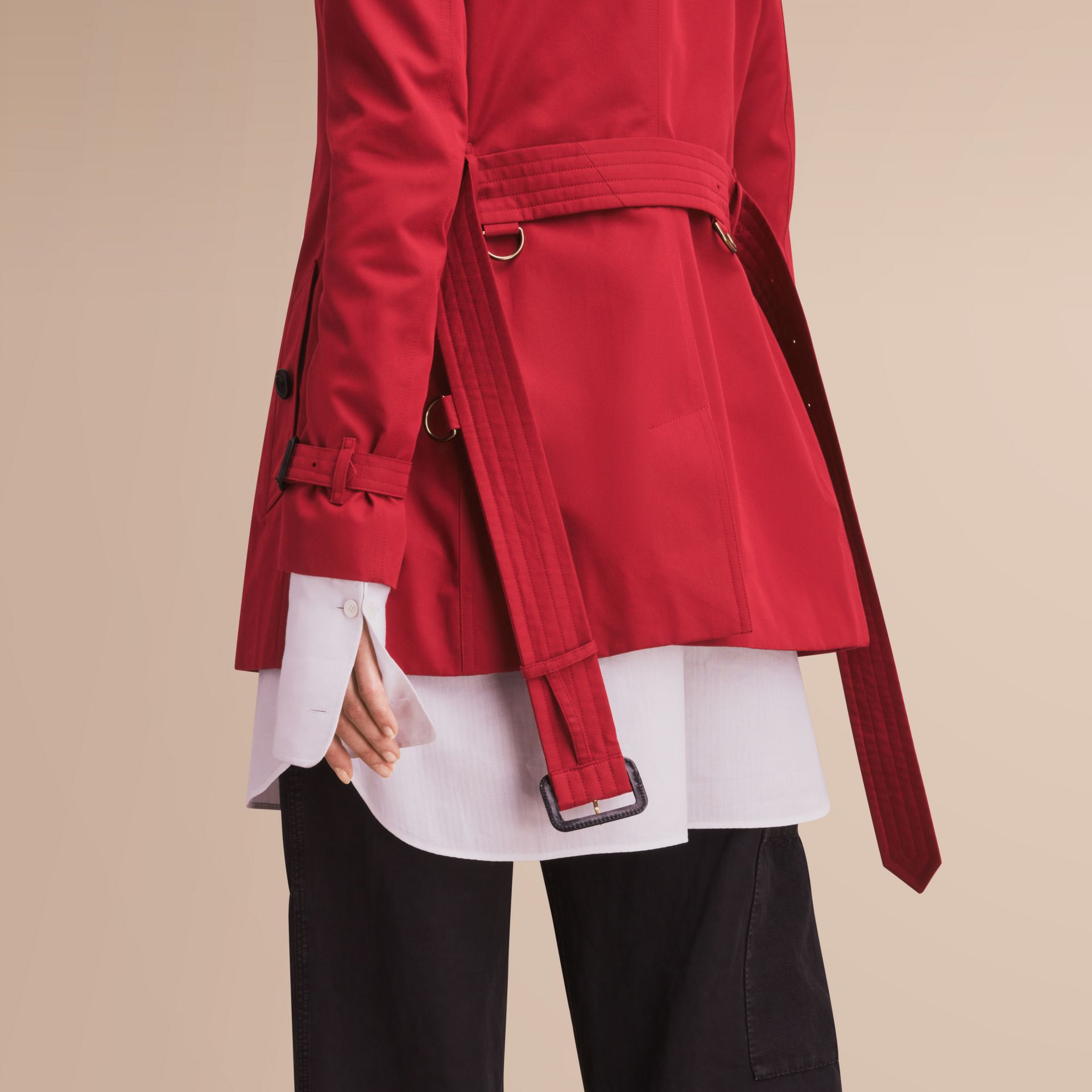 The Kensington – Short Heritage Trench Coat in Parade Red - gallery image 5