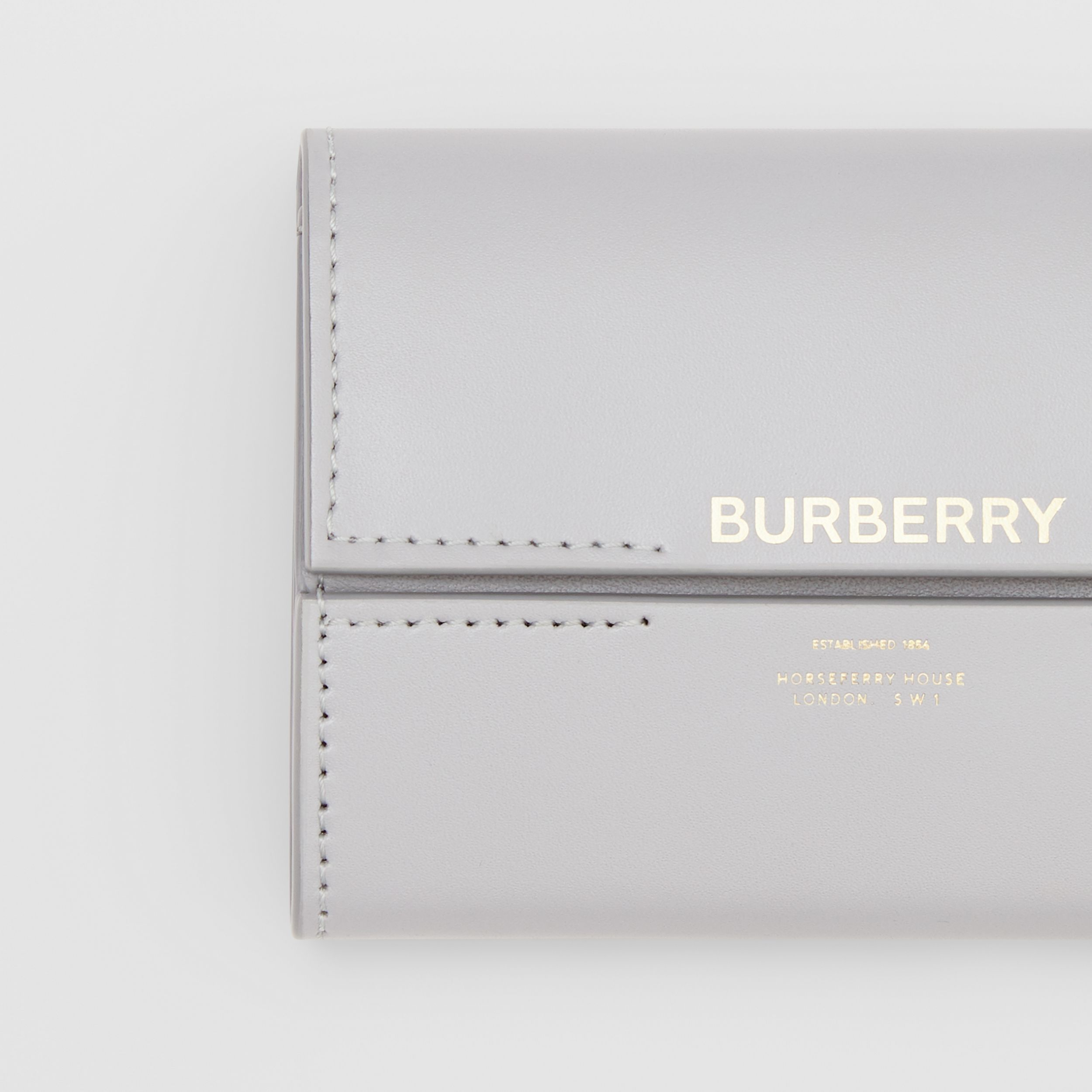Horseferry Print Leather Folding Wallet in Heather Melange - Women | Burberry Canada - 2