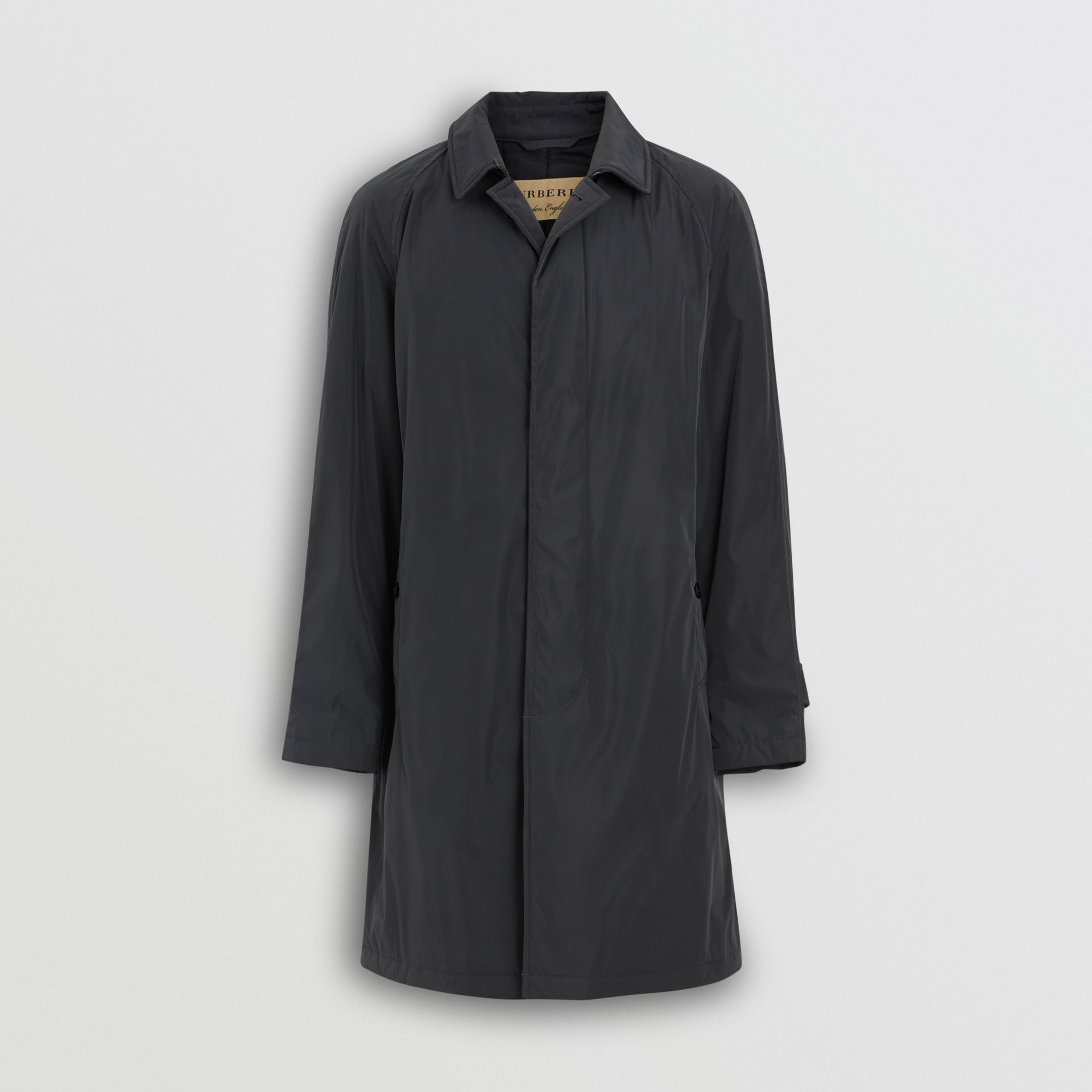 Quilt-lined Nylon Car Coat in Dark Charcoal - Men | Burberry United States - gallery image 3
