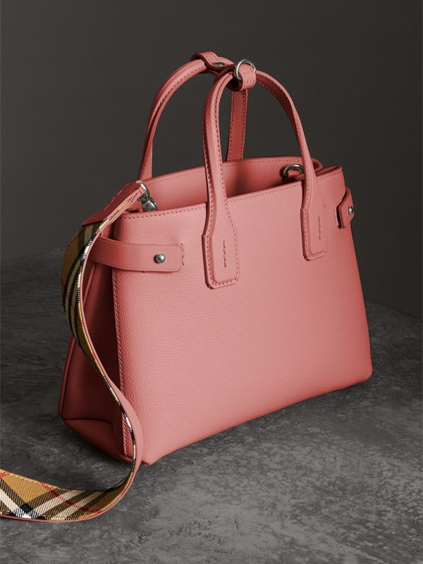 The Small Banner in Leather and Vintage Check in Dusty Rose - Women | Burberry - cell image 2