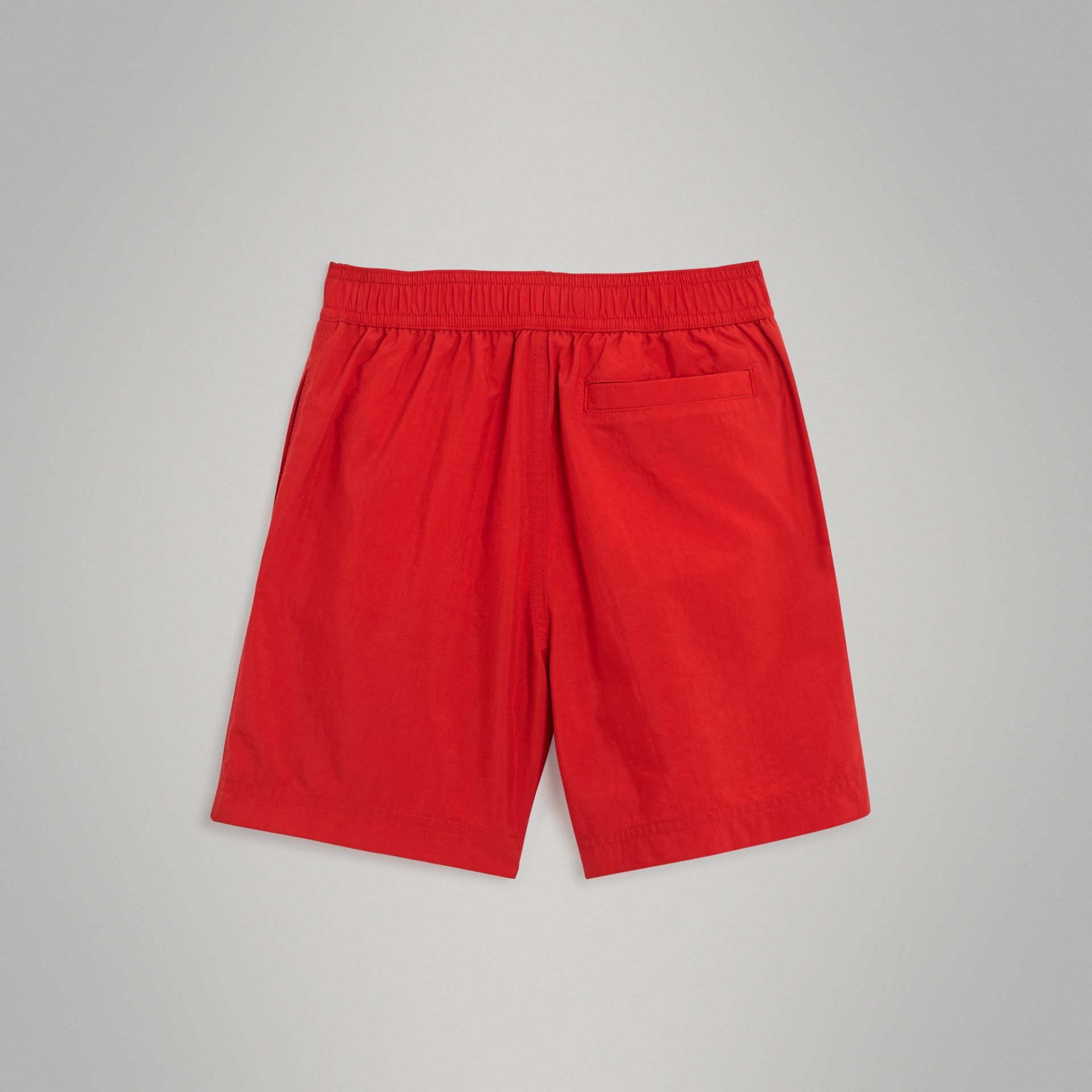 Drawcord Swim Shorts in Military Red | Burberry Australia - gallery image 3