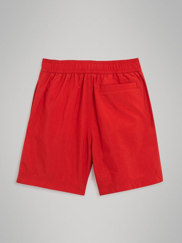 Drawcord Swim Shorts in Military Red | Burberry Australia - cell image 3