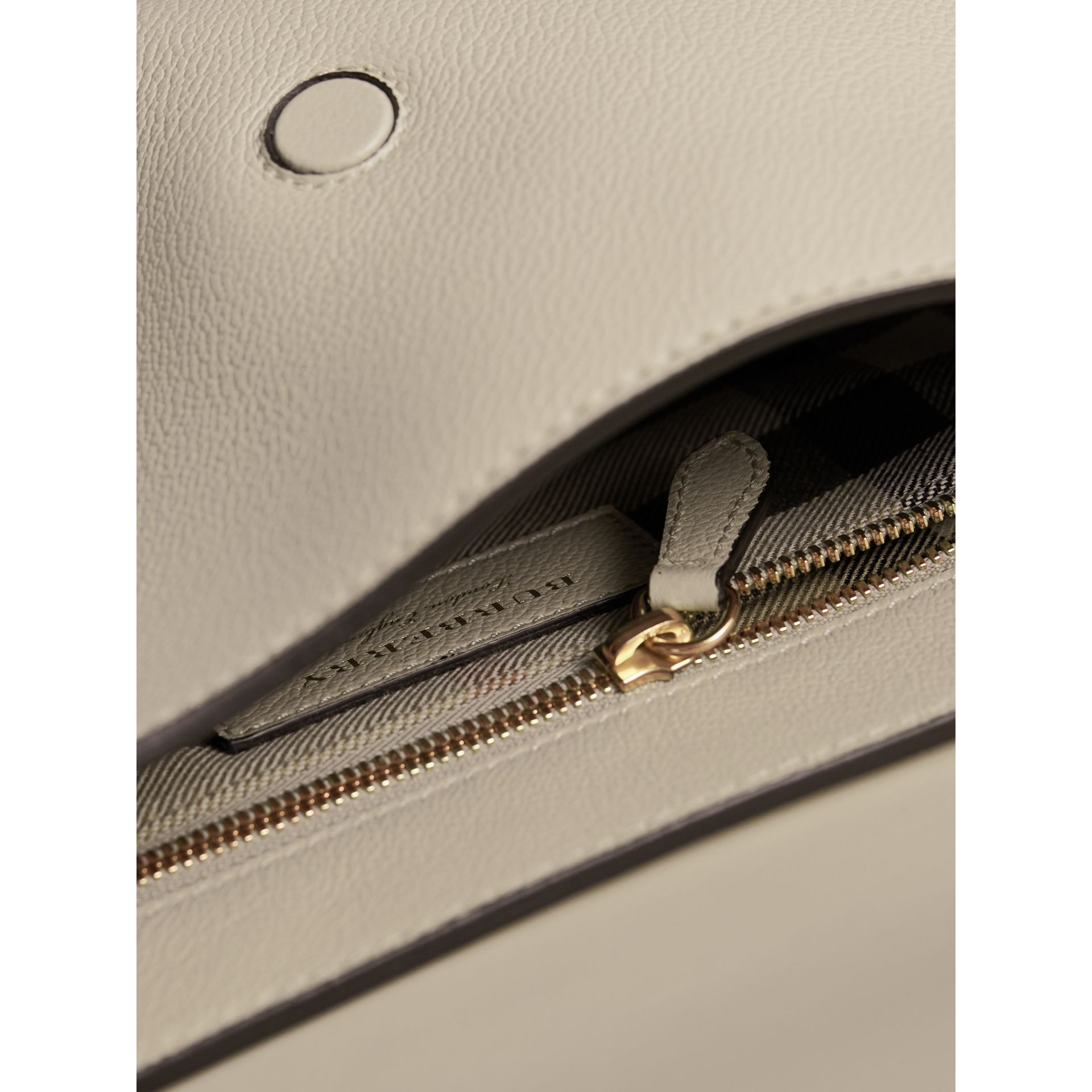 The Buckle Crossbody Bag in Leather in Limestone - Women | Burberry - gallery image 5