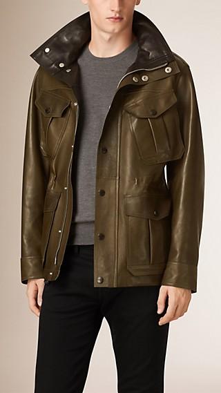 Bonded Lambskin Field Jacket