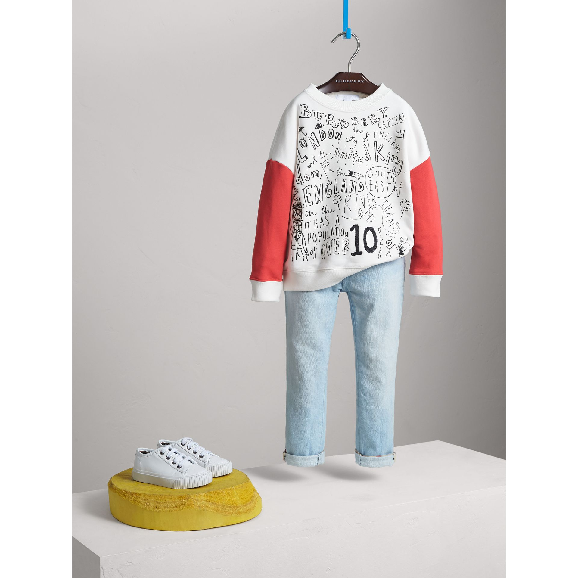London Icons Print Cotton Jersey Sweatshirt - Girl | Burberry - gallery image 1