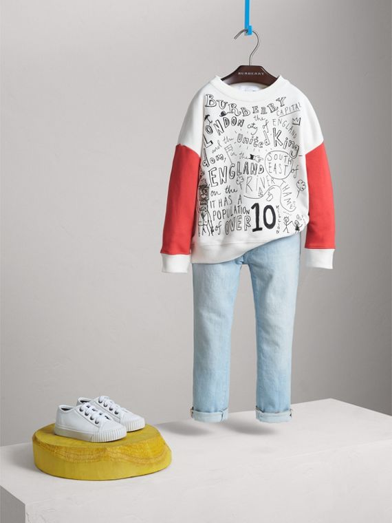London Icons Print Cotton Jersey Sweatshirt - Girl | Burberry Hong Kong