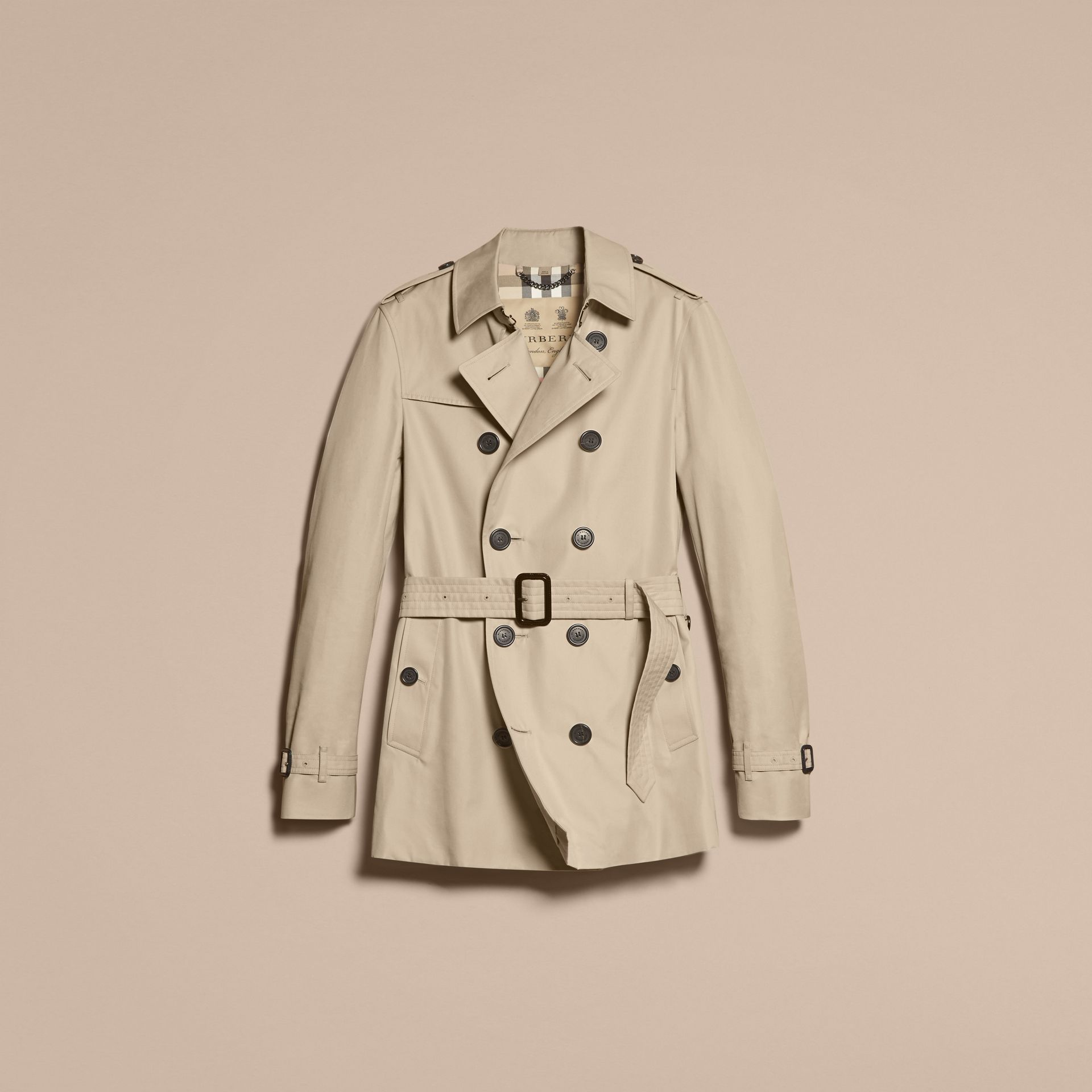 Stone The Chelsea – Short Heritage Trench Coat Stone - gallery image 4