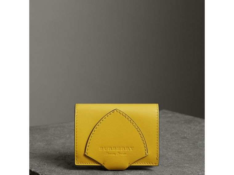 Equestrian Shield Leather Continental Wallet in Bright Larch Yellow - Women | Burberry - cell image 4