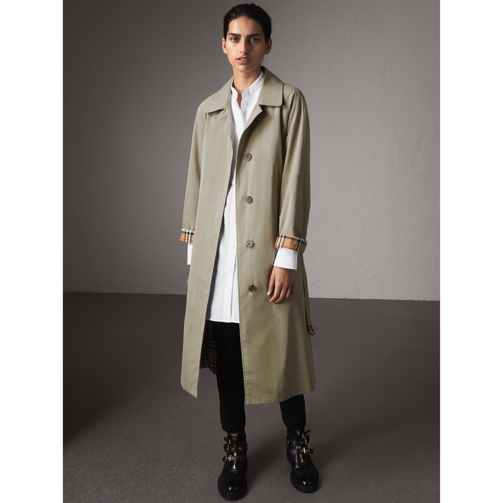 The Brighton – Extra-long Car Coat in Sandstone - Women | Burberry Singapore - gallery image 7