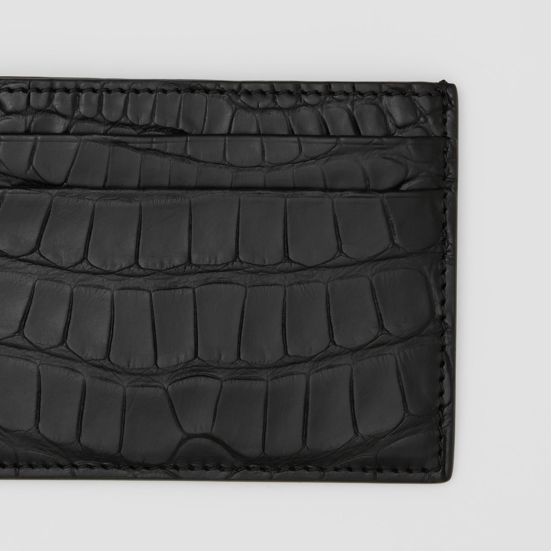 Porte-cartes en alligator (Noir) - Homme | Burberry Canada - photo de la galerie 1