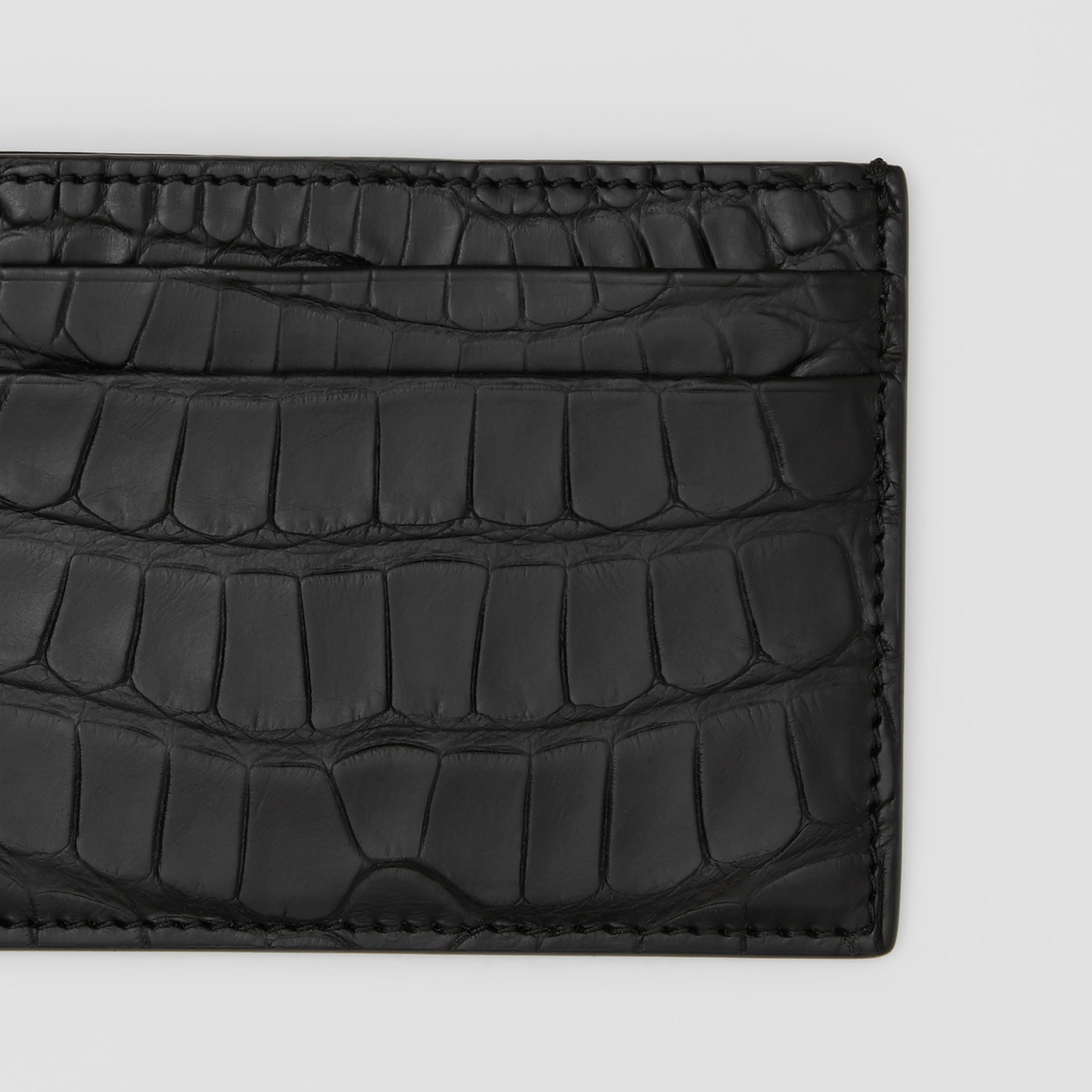 Alligator Card Case in Black - Men | Burberry - 2