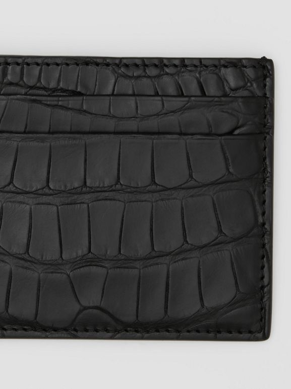 Porte-cartes en alligator (Noir) - Homme | Burberry Canada - cell image 1