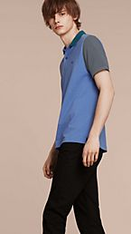 Colour-block Cotton Piqué Polo Shirt