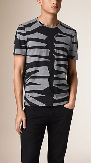Abstract Animal Print Cotton T-Shirt