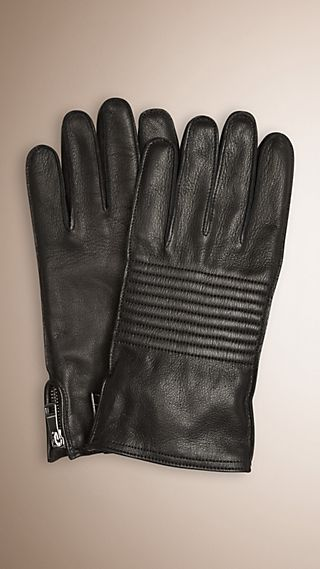 Biker Style Leather Gloves