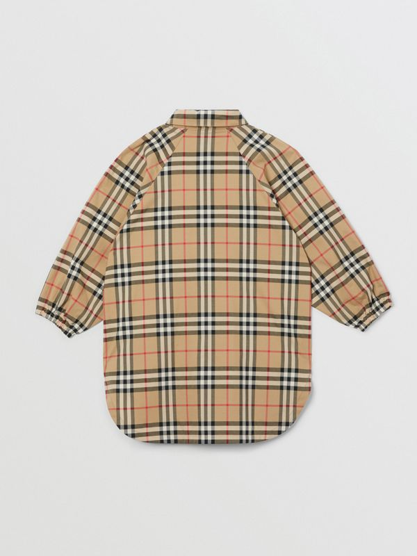 Vintage Check Cotton Shirt Dress in Archive Beige | Burberry Canada - cell image 3