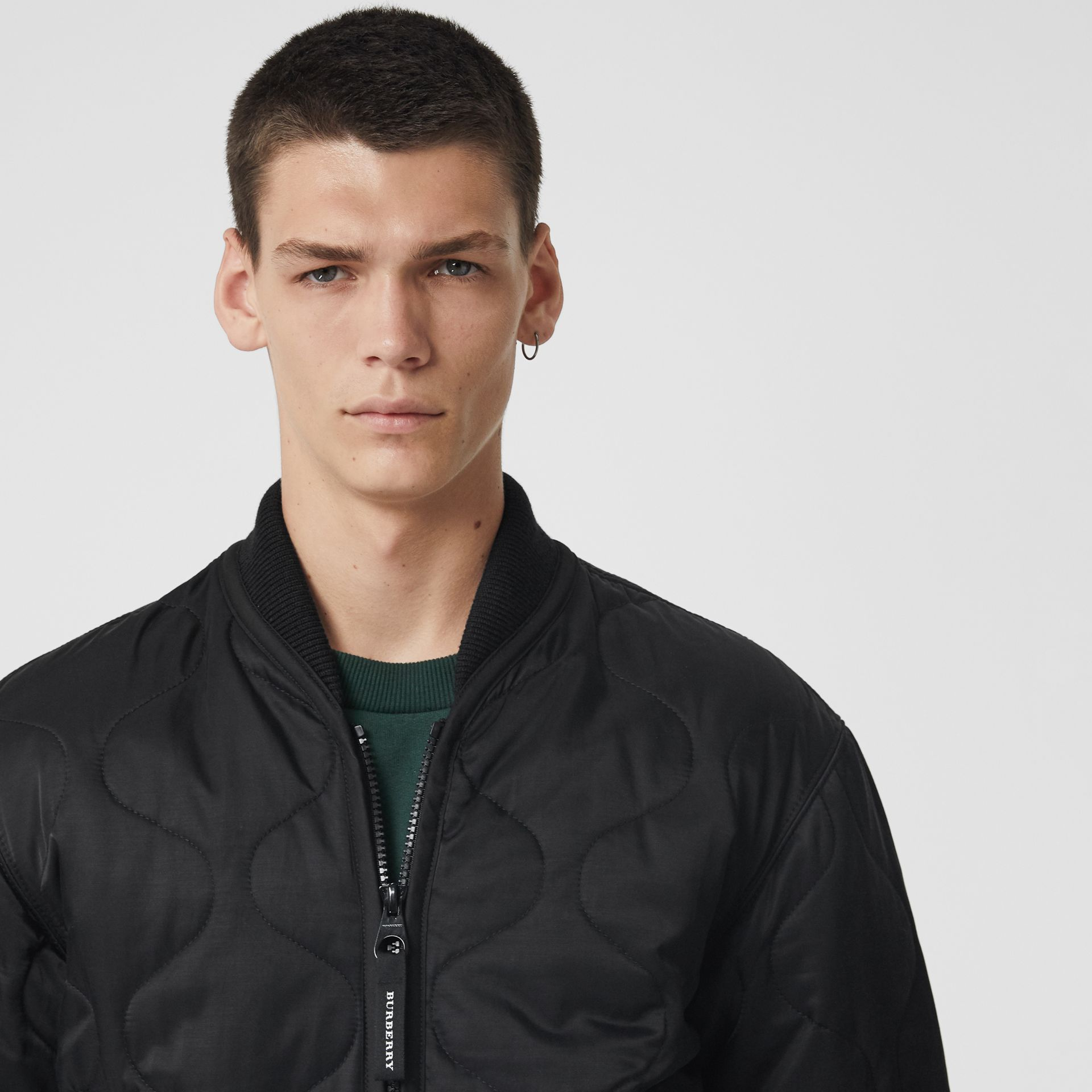 Quilted Bomber Jacket in Black - Men | Burberry - gallery image 1
