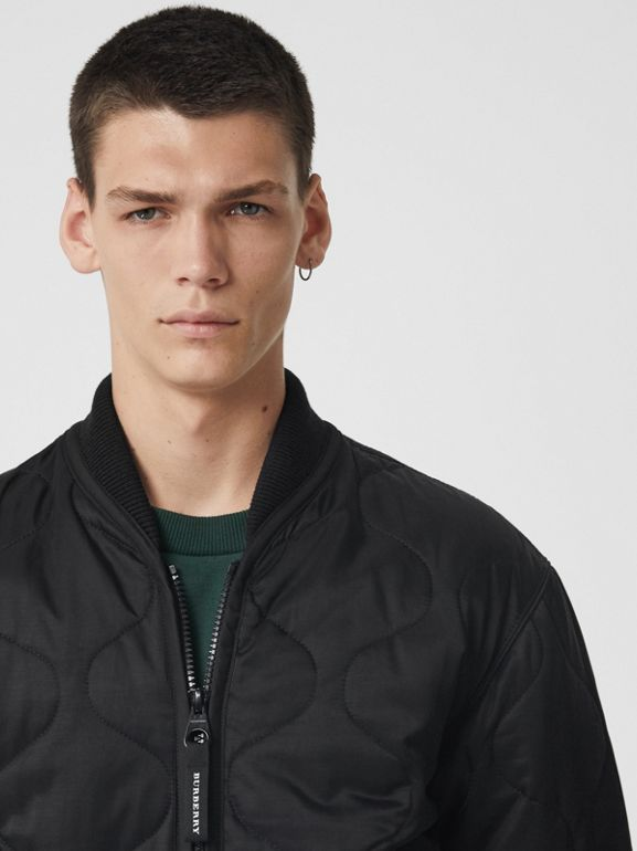 Quilted Bomber Jacket in Black - Men | Burberry - cell image 1