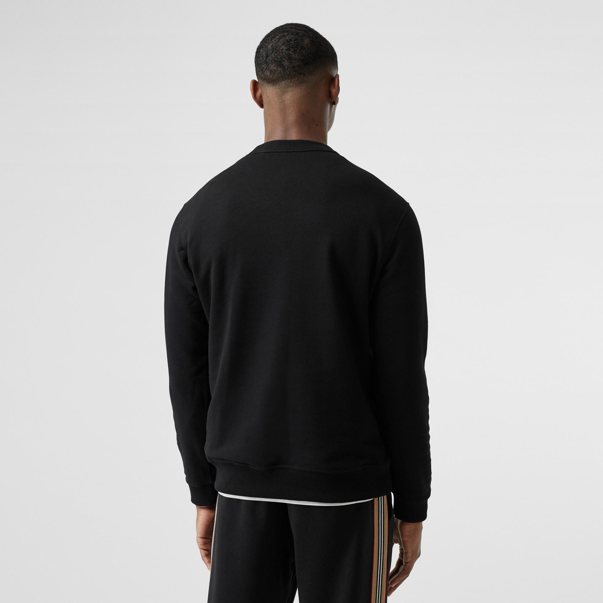 Sweat-shirt en coton Kingdom (Noir) - Homme | Burberry Canada - photo de la galerie 2