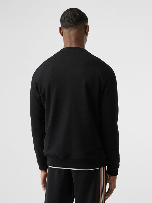 Kingdom Print Cotton Sweatshirt in Black - Men | Burberry - cell image 2