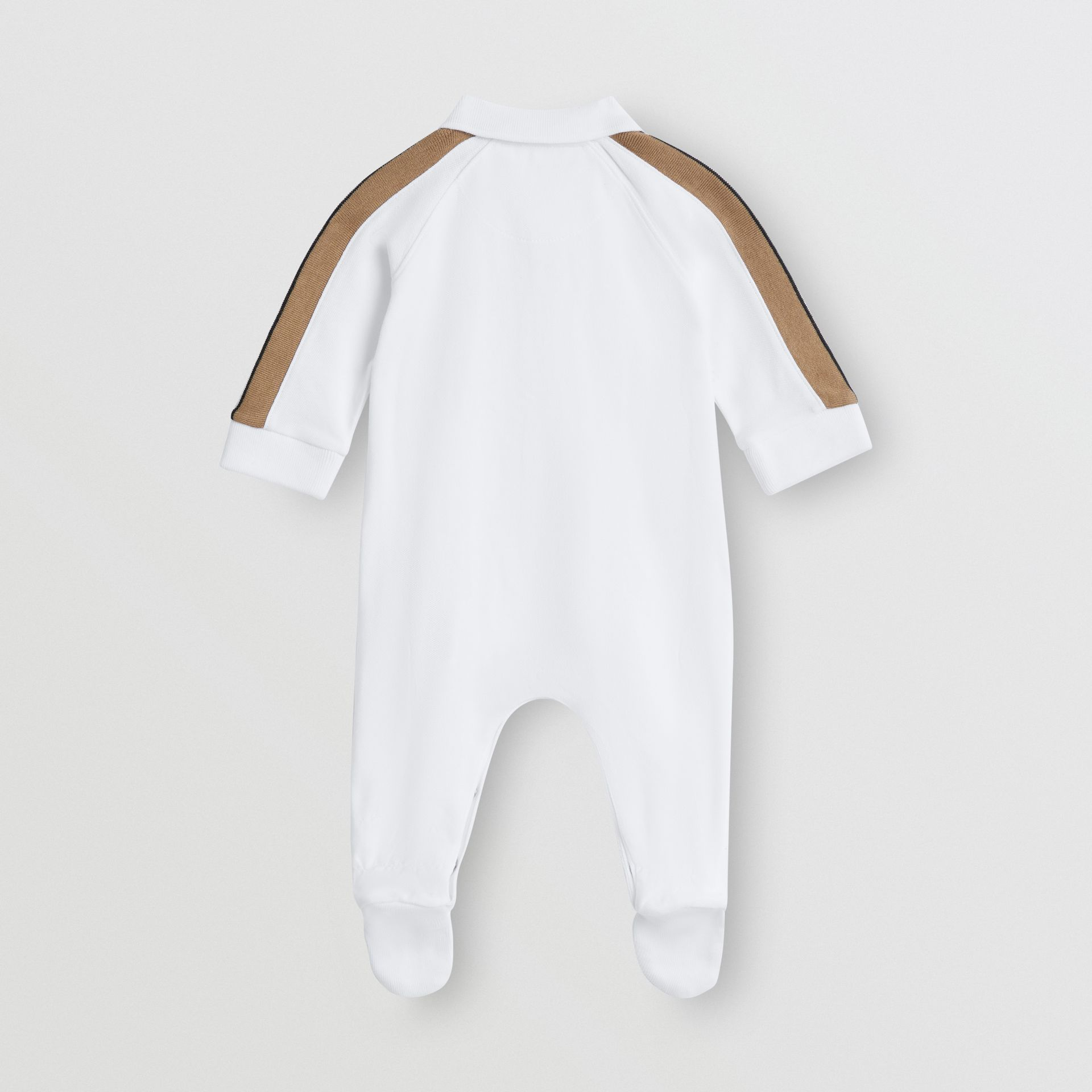 Icon Stripe Two-piece Baby Gift Set in White - Children | Burberry Hong Kong - gallery image 3
