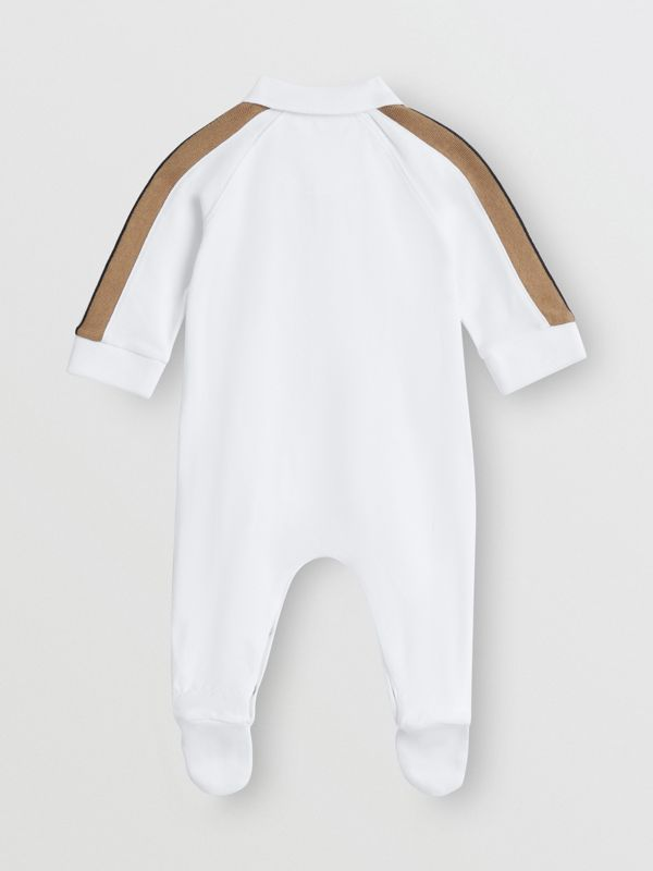 Icon Stripe Two-piece Baby Gift Set in White - Children | Burberry Hong Kong - cell image 3