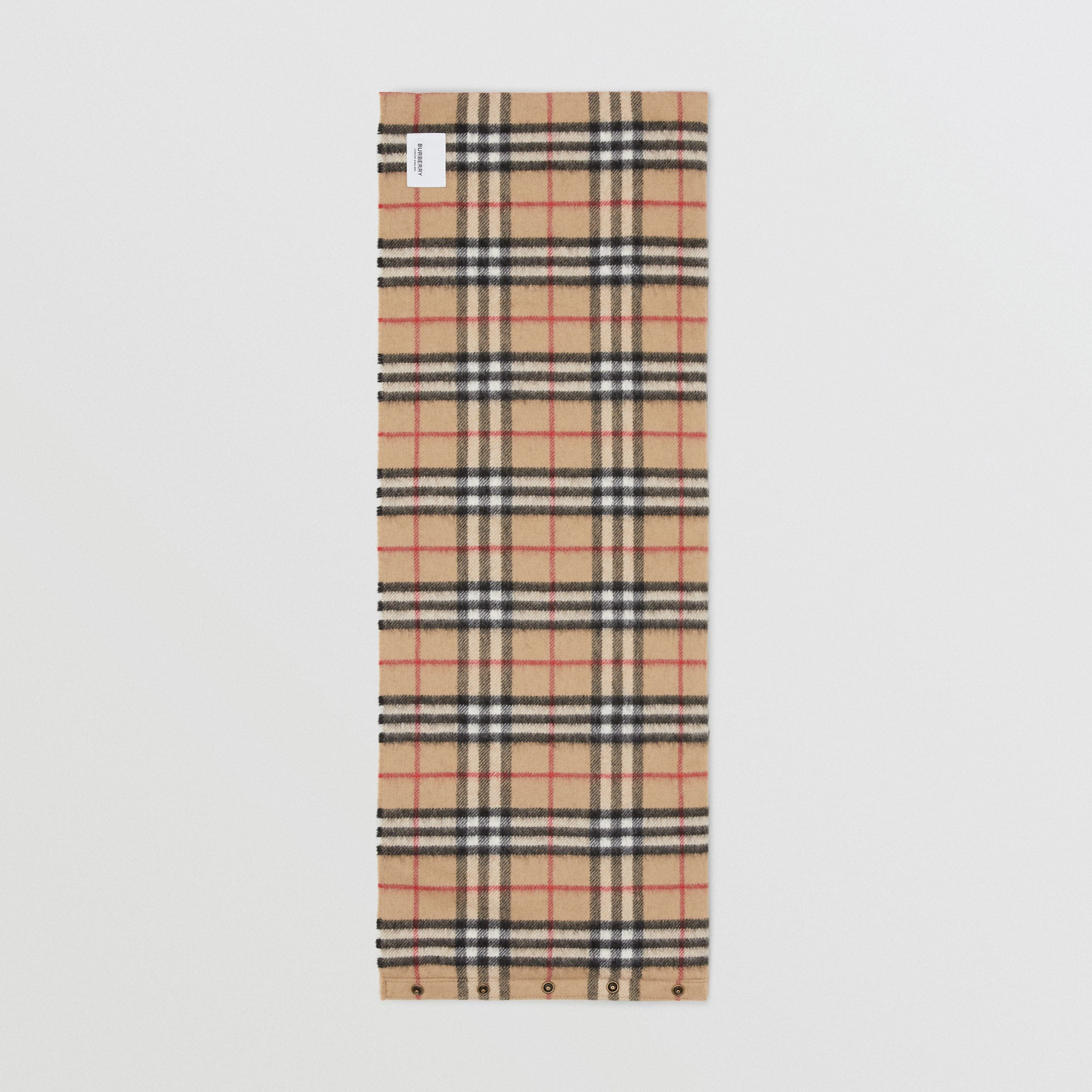 Vintage Check Cashmere Snood in Archive Beige - Children | Burberry - 4