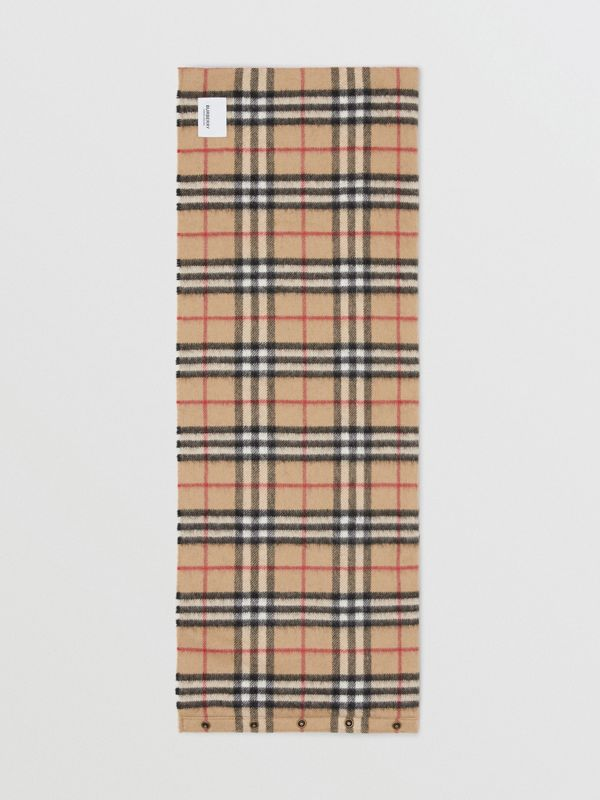 Vintage Check Cashmere Snood in Archive Beige - Children | Burberry - cell image 3