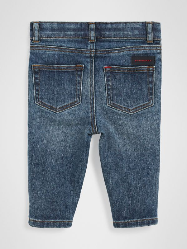 Skinny Fit Stretch Denim Jeans in Mid Indigo - Children | Burberry Singapore - cell image 3