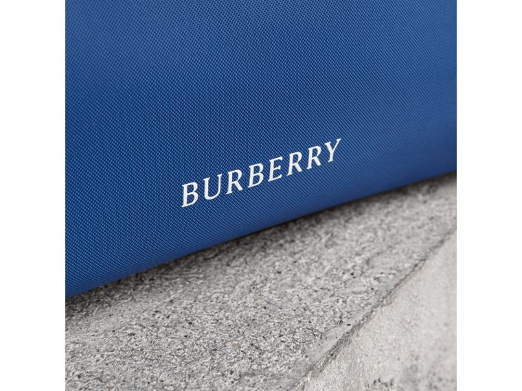 Heritage Ribbon Detail Nylon Pouch in Dark Canvas Blue | Burberry - cell image 1