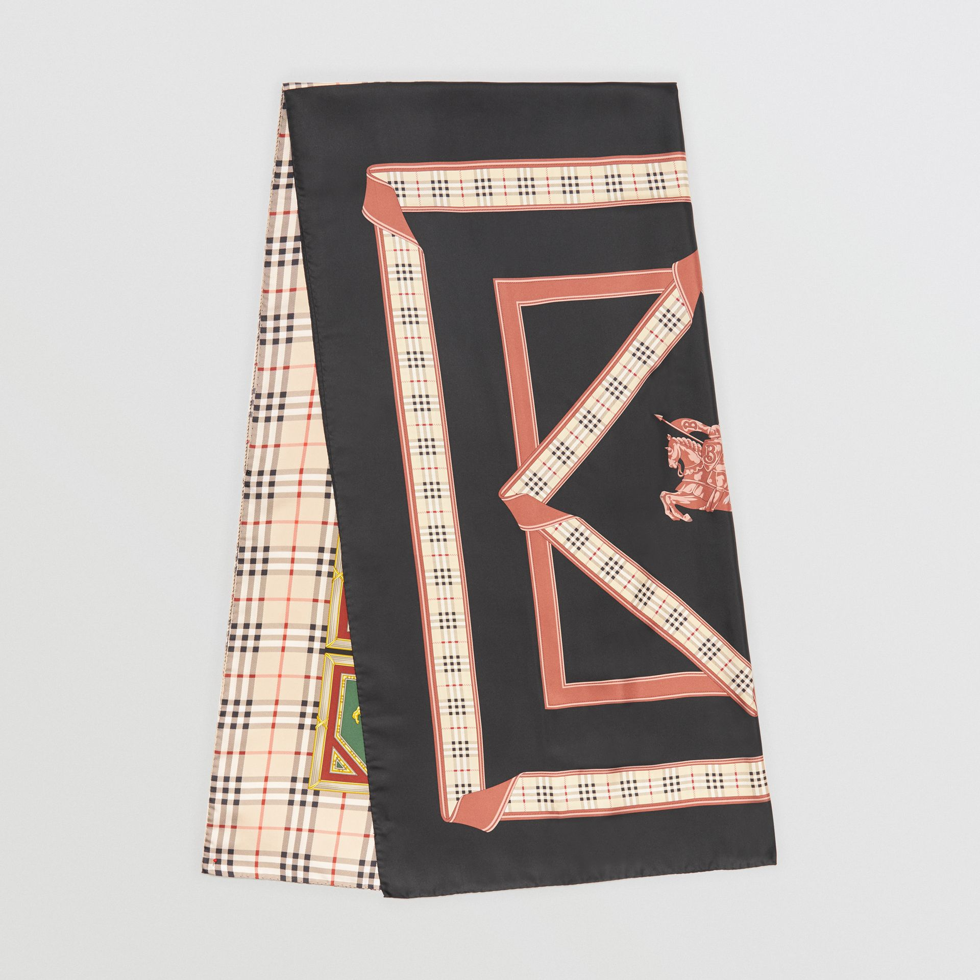 Archive Scarf Print Silk Scarf in Multicolour | Burberry - gallery image 0