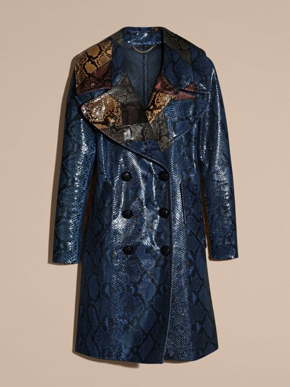 Mineral blue Regimental Glossy Python Coat - cell image 3